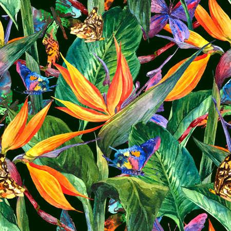 flores exoticas: Modelo incons�til tropical con flores ex�ticas