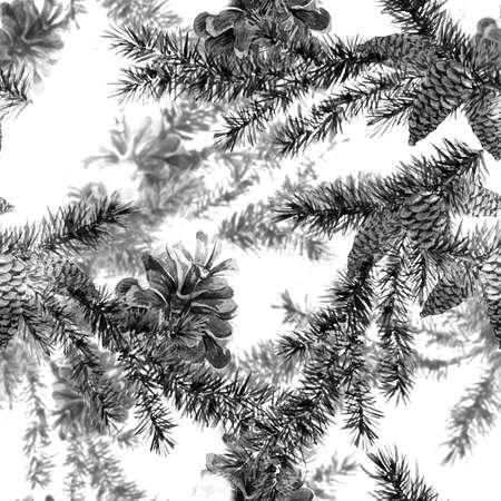 christmas watercolor: Christmas Watercolor Seamless Background