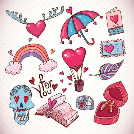 cartoon love: Doodle cartoon love collection