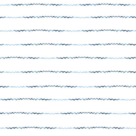 striped: Dark Blue Vector Abstract Watercolor Seamless Striped Pattern, vector illustration Illustration