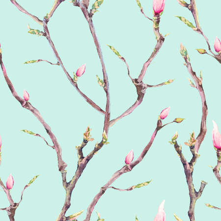 tree: Seamless Pattern with Blooming Tree Branches