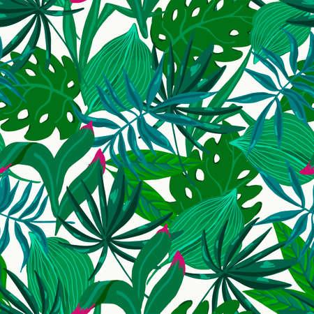 Vector summer exotic seamless pattern, vector illustration