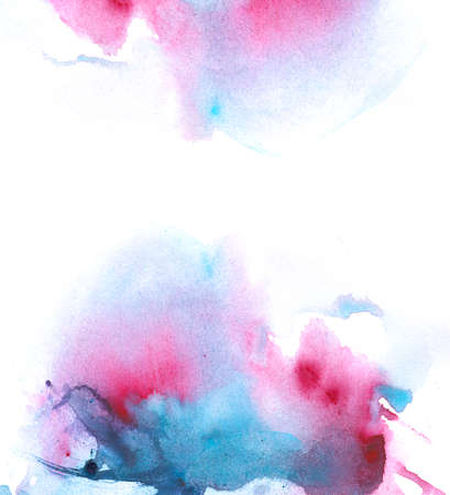 Ultraviolet Watercolor Abstract
