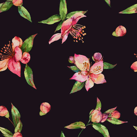 Watercolor spring seamless pattern Zdjęcie Seryjne