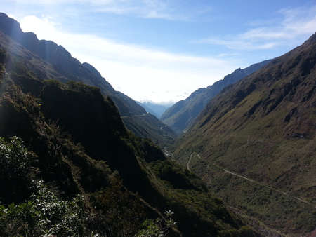 The Death Road in Bolivia, South America. Stock Photo