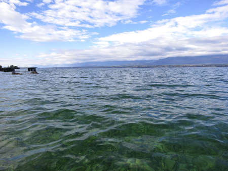 montreux: Leman lake near Geneva in Switzerland, Europe