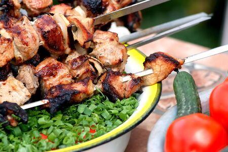 barbecue and vegetables Stock Photo - 2226042