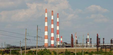 industria petroquimica: vista de la industria petroqu�mica