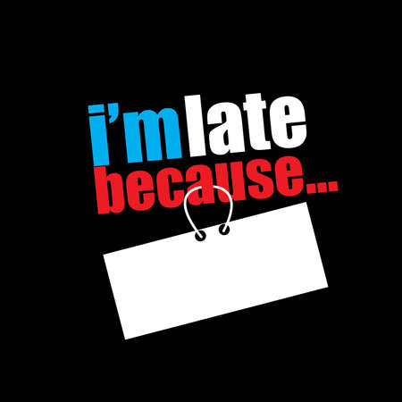 Vector funny saying excuses logo template Logo