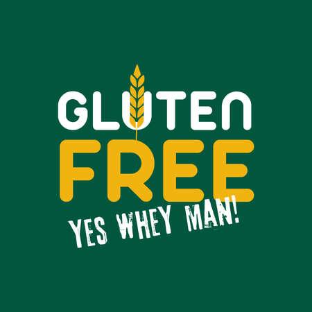 Vector Gluten Graphic Emblem Illustration Illustration