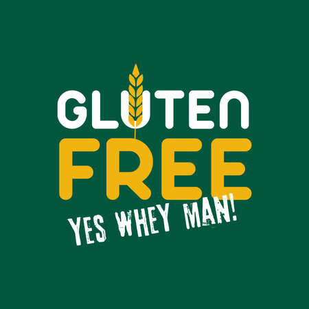 Vector Gluten Graphic Emblem Illustration Ilustração