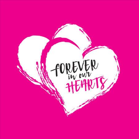 Vector Love logo hearts graphic illustration