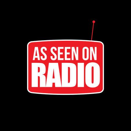 Vector Television Radio Logo Graphic Illustration Ilustração