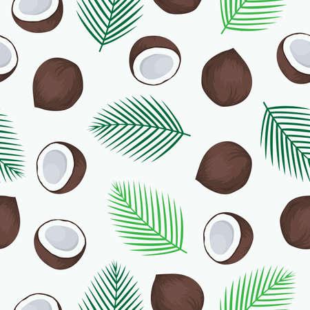 Patrón sin fisuras de fruta de coco