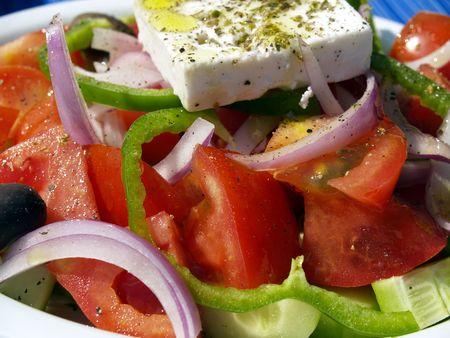 greek salad, detail Stock Photo - 454217