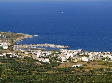 milatos, village on the coast Stock Photo