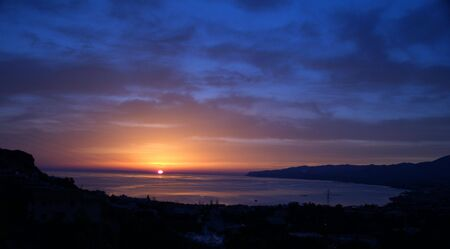 sunrise over Malia, crete, greece