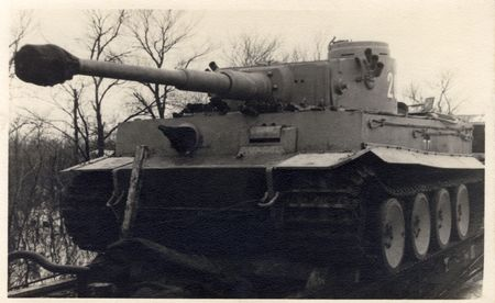 german tank on raiway car on it�s way to eastern front. Photo by my deceased father, I hold all rights including full copyright