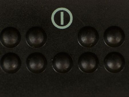standby: Standby button with control lamp of Television