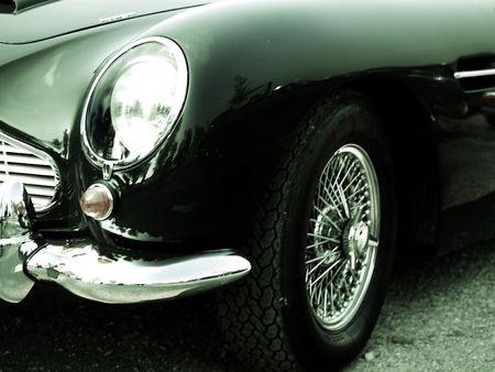 gt: Dettaglio del Classic British GT  Archivio Fotografico