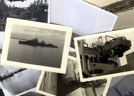 seconda guerra mondiale: Vintage grungy fotografie in bianco e nero scattate durante la Seconda Guerra Mondiale. tutte le foto inserite in cui prese dal mio defunto padre. Sono proprietario di tutti i diritti incl. diritto d'autore.