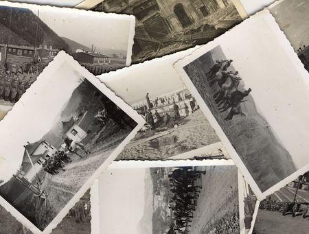 seconda guerra mondiale: Grungy d'epoca in bianco e nero foto scattate durante la II guerra mondiale. Tutte le foto incluse, dove prese dal mio defunto padre. Sono titolare di tutti i diritti incl. Diritto d'autore.