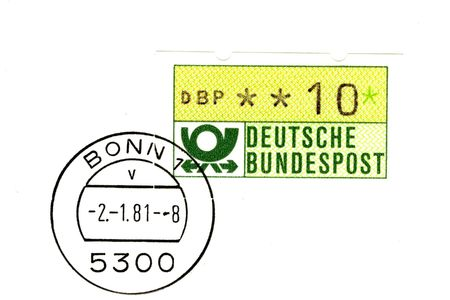 automat: one of the first german automat stamps Stock Photo
