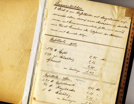 detail of vintage recipe-book Stock Photo - 706389