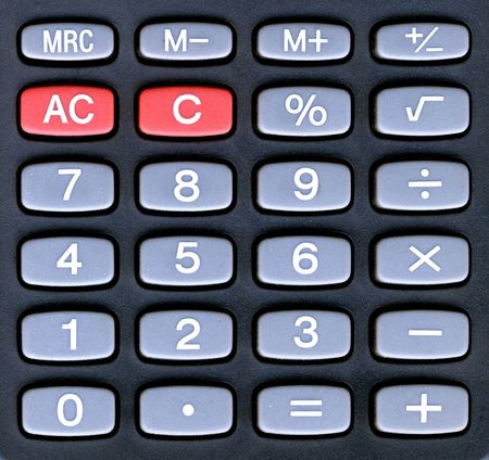 handheld calculator keyboard