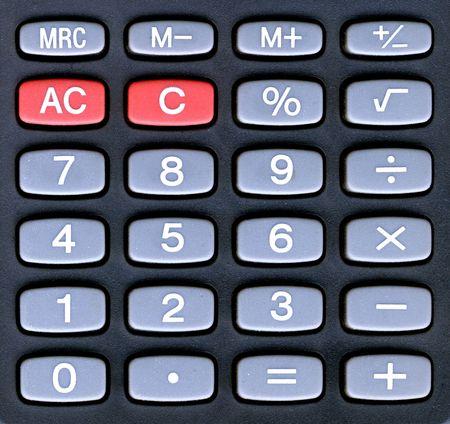numeracy: handheld calculator keyboard