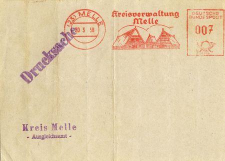 printed matter: back of old printed matter postcard