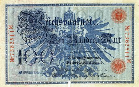 old german 100 reichsmark bill