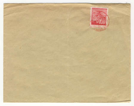 old envelope: old envelope with blank address field