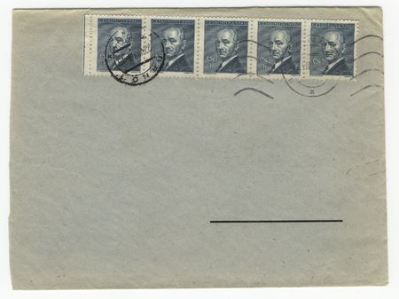 old envelope with blank address field Stock Photo - 728020