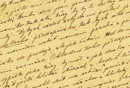 oud document: Vintage handschrift uit oude brief