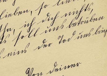 Detail of vintage autograph book Stock Photo - 779710