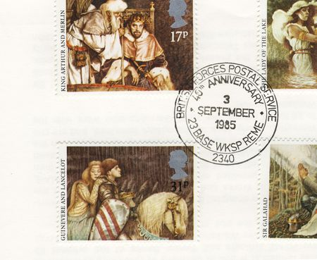 detail of envelope with bfps stamp