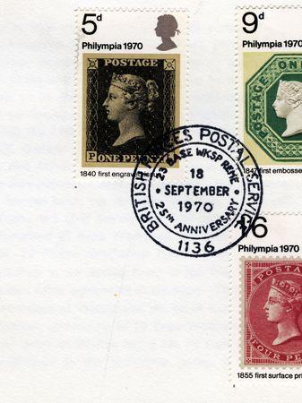 mailroom: detail of envelope with bfps stamp
