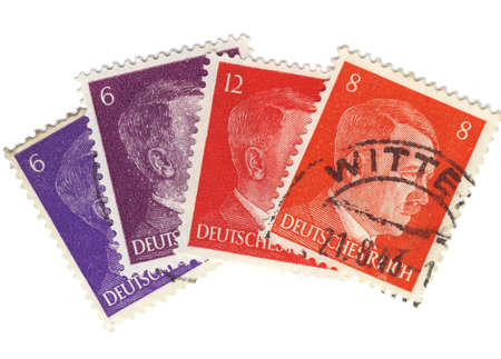 Vintage stamps from nazi germany