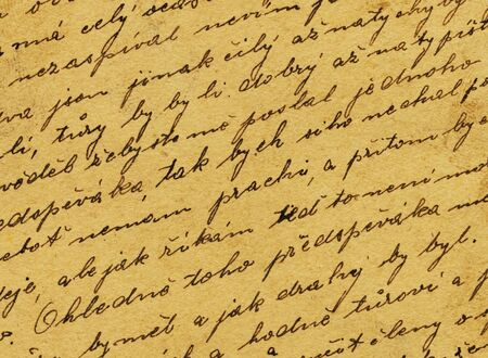 Vintage handwriting from old letter Stock Photo