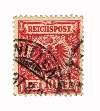 postes: red old stamp from germany