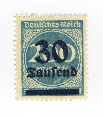 postes: blue german inflation stamp