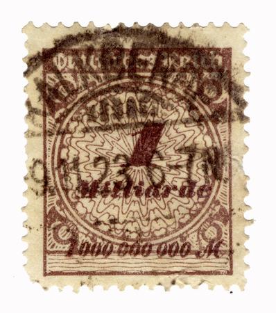 postes: brown german inflation stamp