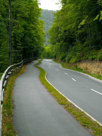 twisting: twisting road through the forest at edersee, germany