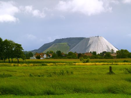 overburden: a potash mining dump near Steinhude, germany