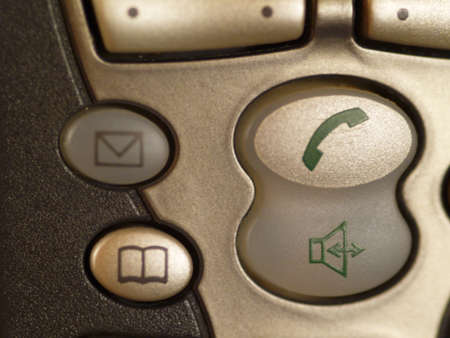 closeup of mobile telephone, shallow depth of field Stock Photo - 2287678