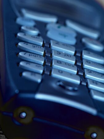 closeup of mobile telephone, shallow depth of field Stock Photo