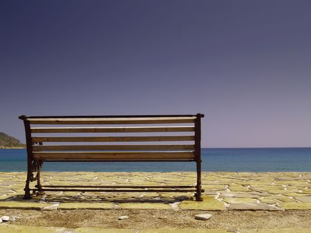 bench at the sea Stock Photo - 3699301