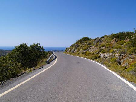 winding road on crete Stock fotó