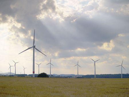 windfarm: wind-farm in rural german landscape